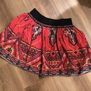 Flying Tomato Aztec Print Miniskirt